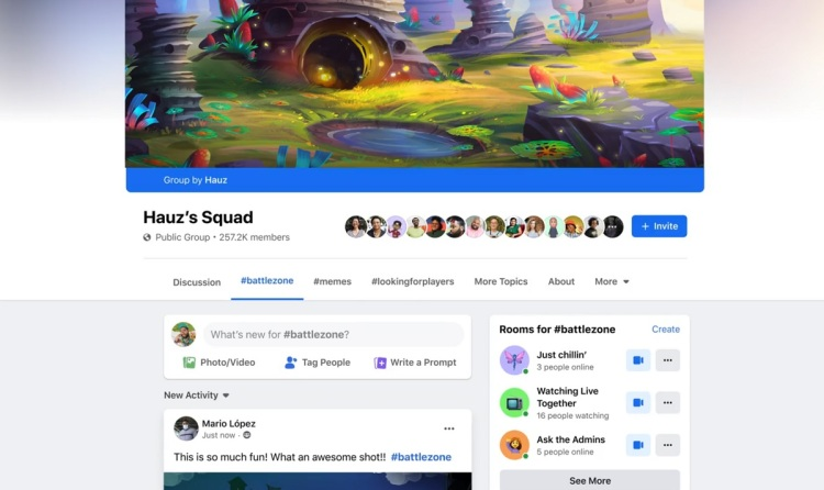 Facebook is starting Fan Groups for Facebook Gaming streamers.