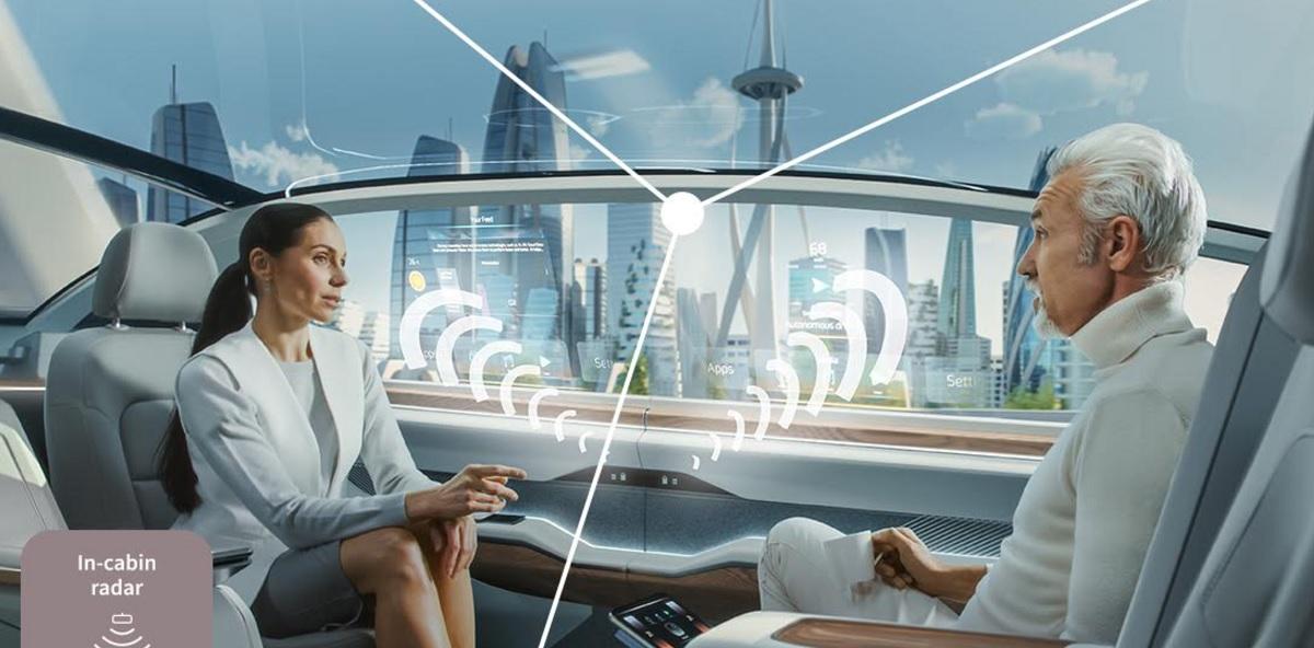 Infineon's radar sensors can detect human movement in self-driving cars.