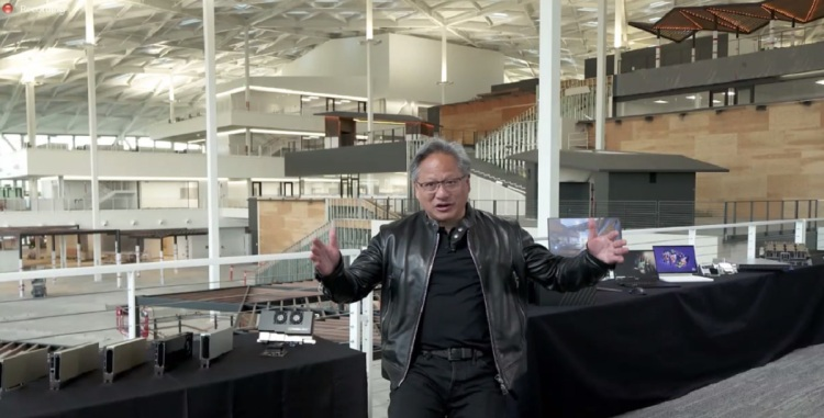 Jensen Huang, CEO of Nvidia, takes press questions during the virtual Computex 2021 event.