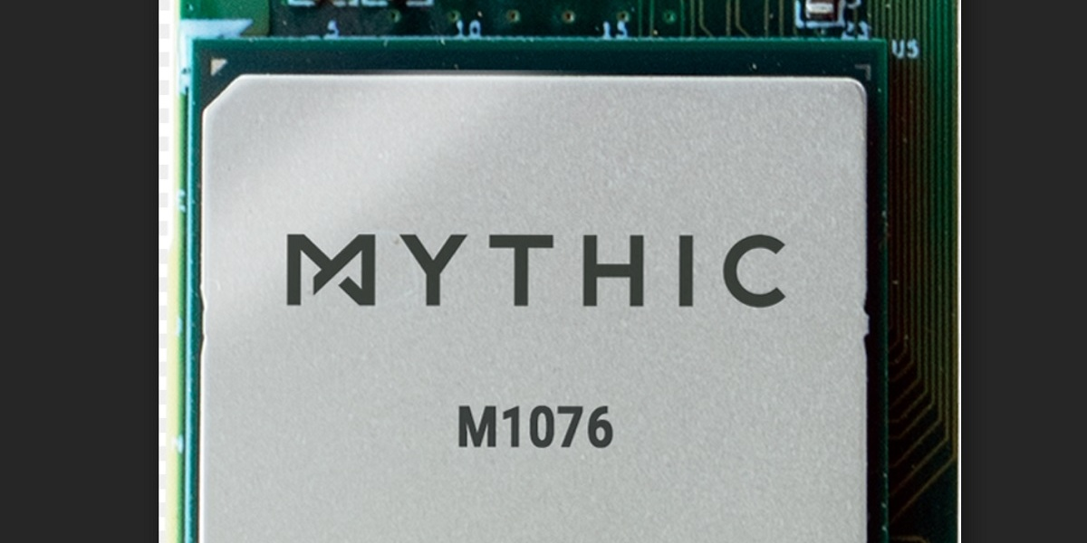 Mythic's analog processor is 10 times more power efficient.