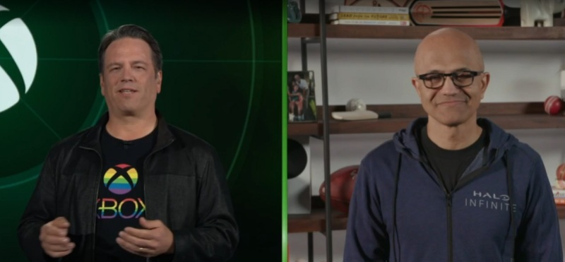 Phil Spencer (left), head of Xbox, and Satya Nadella, CEO of Microsoft.