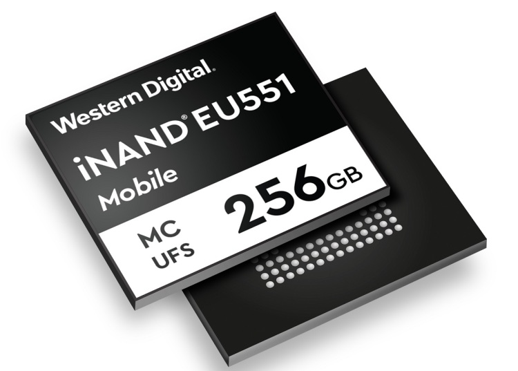 Western Digital's iNAND EU551 mobile storage product.