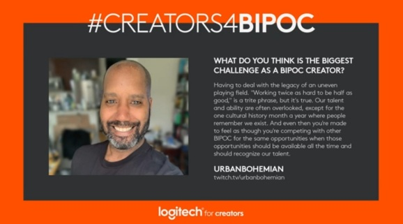 Logitech partners with BIPOC creators to bring down racial barriers