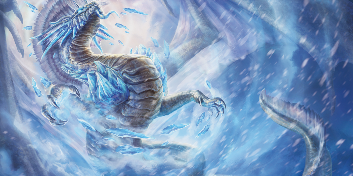 This silver great wyrm is more than dragon -- it's the manifestation of many wyrms across the planes.