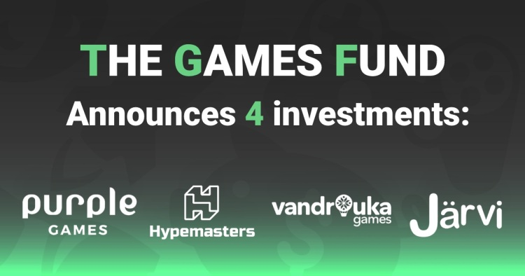 The Games Fund has invested in four game studios.