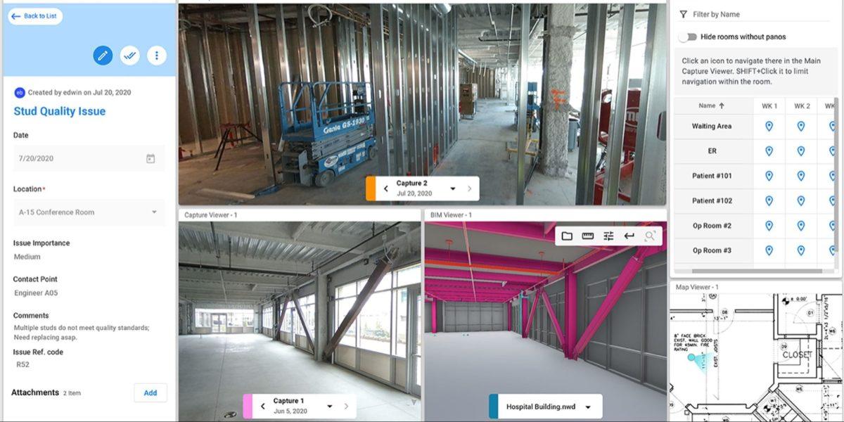 Cupix construction walkthrough for Digital Twin
