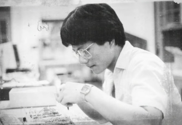 Jensen Huang in his early years as an engineer.