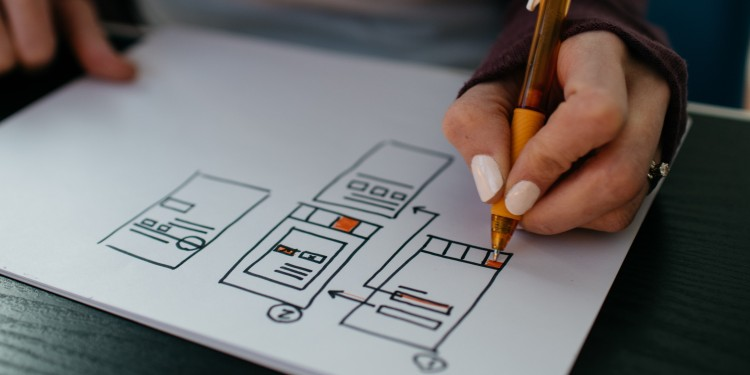 Hand drawing windows and user interface