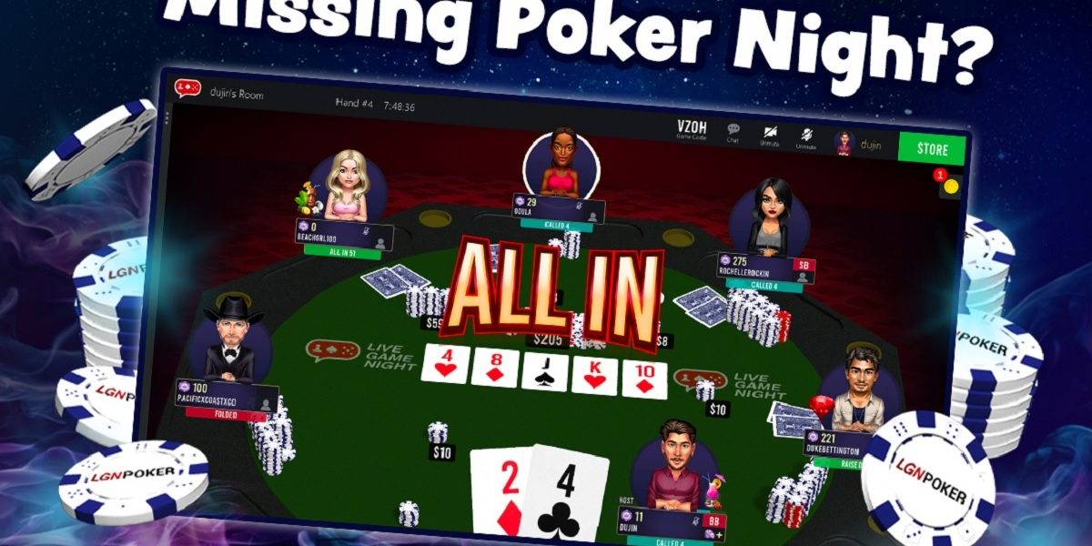 Live Game Night Poker invites you to play on Zoom.