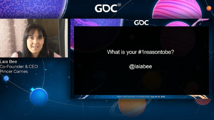 Laia Bee curated the #1ReasonToBe panel at GDC 2021.
