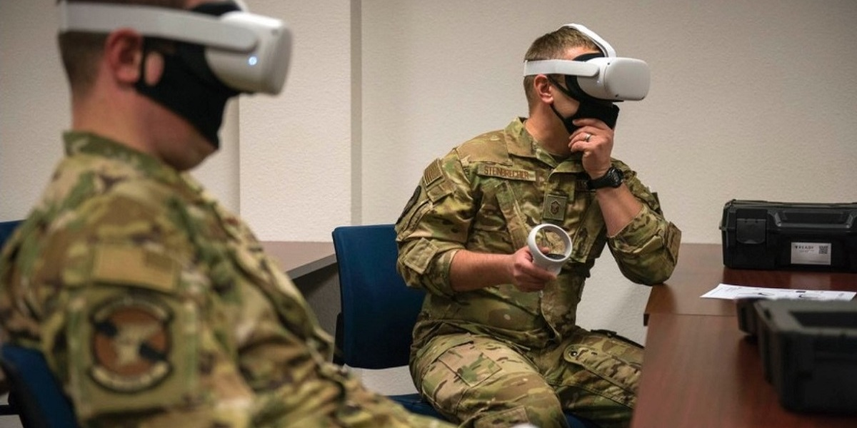 Air Force pilots do Moth + Flame VR training.