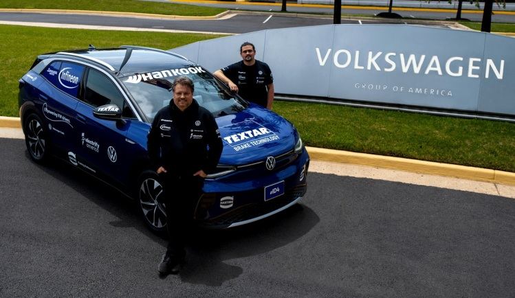 will drive the electric VW ID.4 37,000 miles across the U.S.