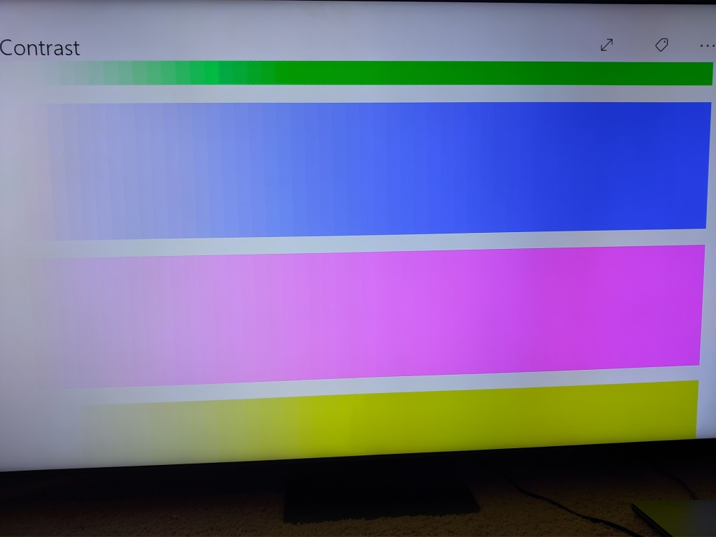 banding colors Samsung Neo QLED QN90A TV review -- Bright and beautiful mini LEDs