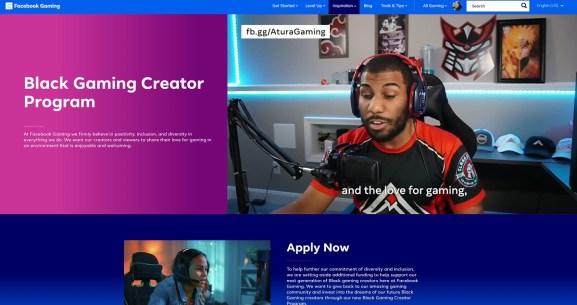 Facebook Gaming takes new applications for Black Gaming Creator Program