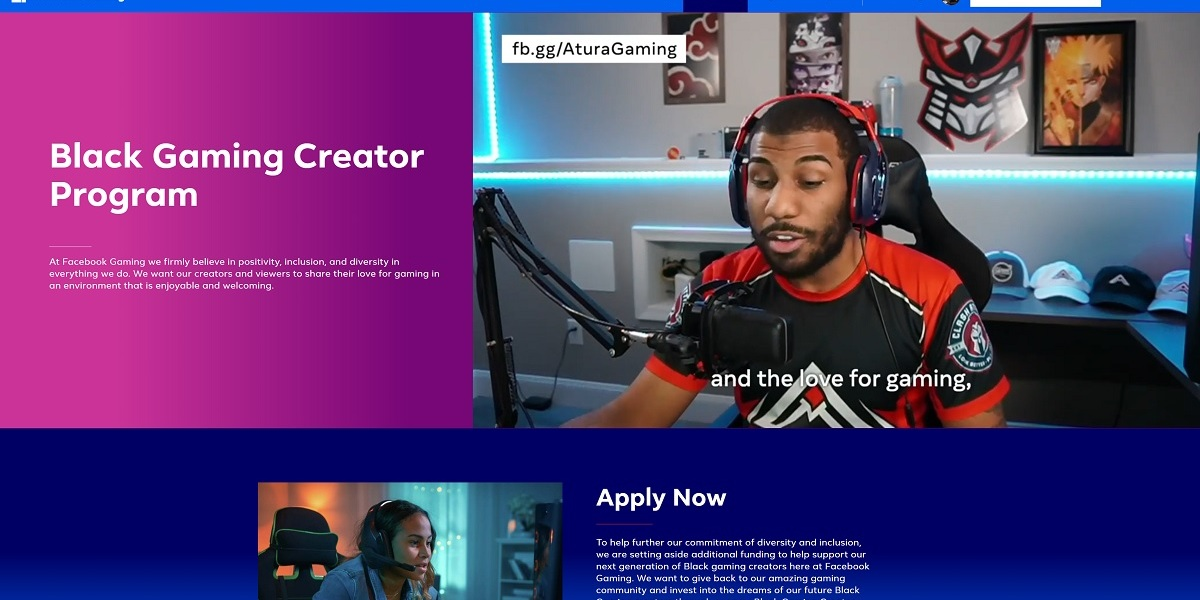Facebook Gaming is taking more applications for its Black Gaming Creator Program.