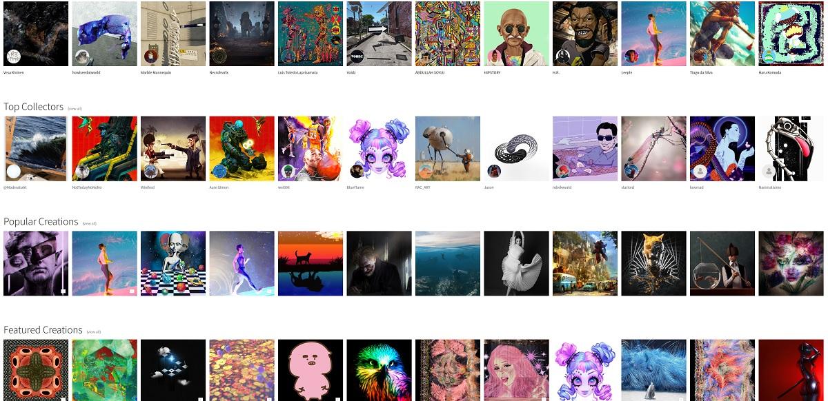 MakersPlace is a market for NFT art.