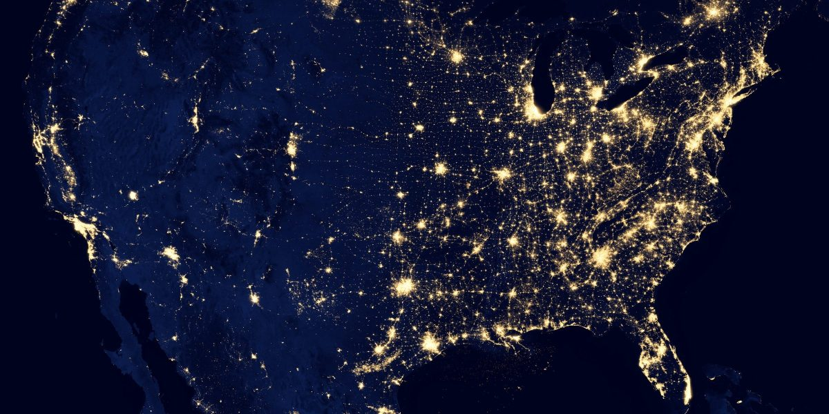 United States seen from orbit