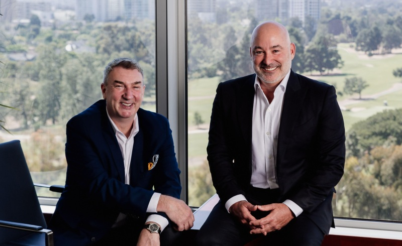 Roy Taylor (left) of Ryff and Paul Feinstein of Audent.