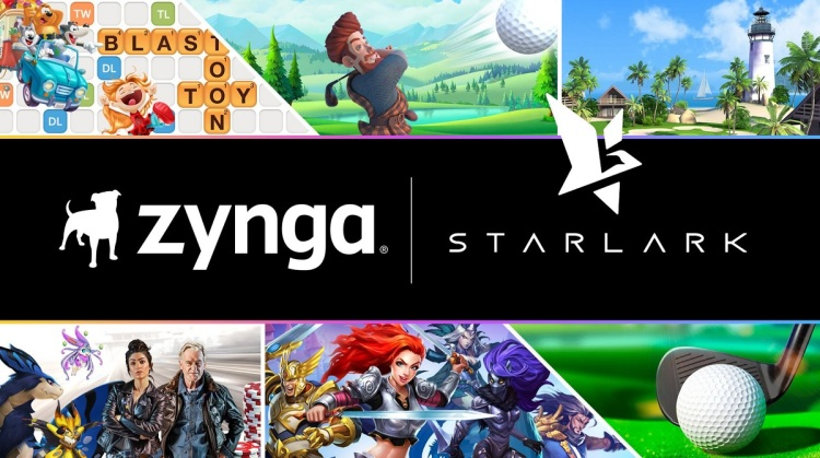 Zynga is buying Starlark and Golf Rival for $525M.