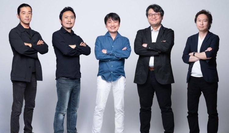 Thirdverse's leaders. Hironao Kunimitsu is in blue.