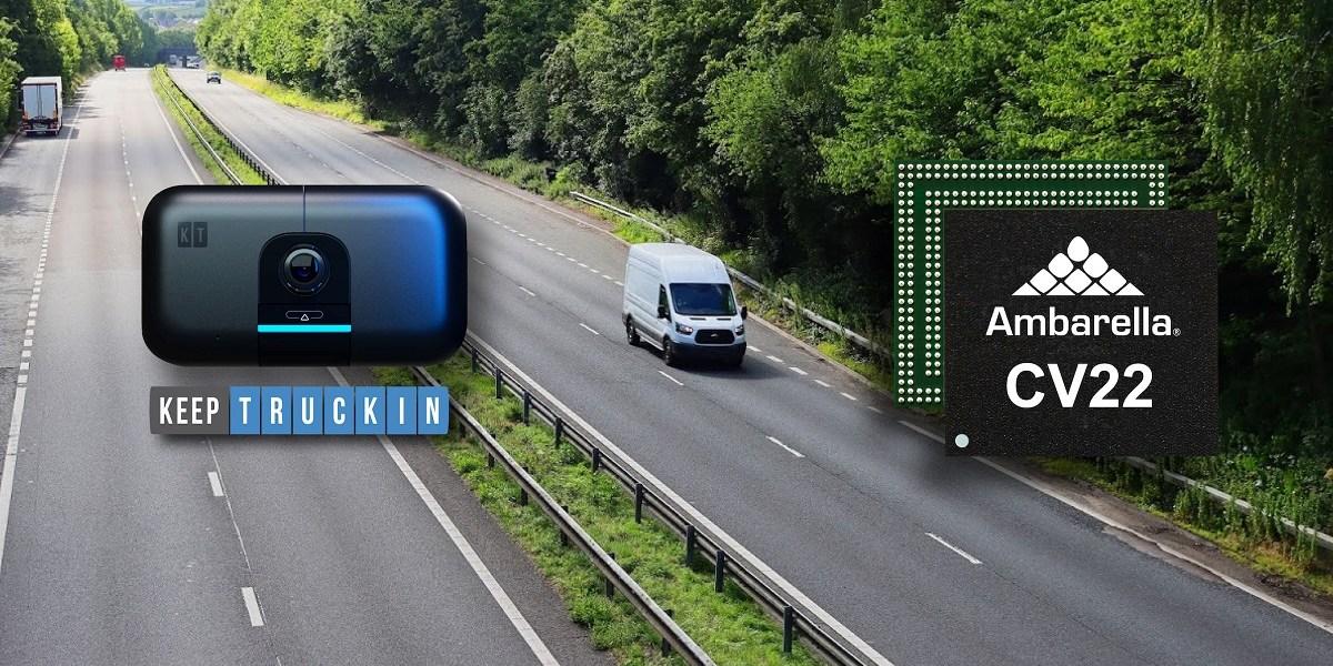 Ambarella AI chips power the KeepTruckin AI Dashcam.