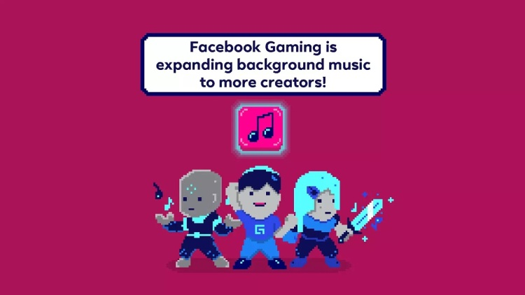 Facebook Gaming is expanding background music to more streamers.