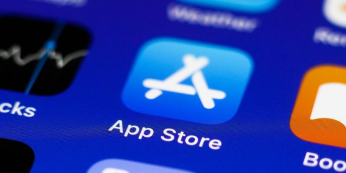 App Store icon displayed on a phone screen is seen in this illustration photo taken in Krakow, Poland on July 18, 2021.  (Photo Ilustration by Jakub Porzycki/NurPhoto via Getty Images)