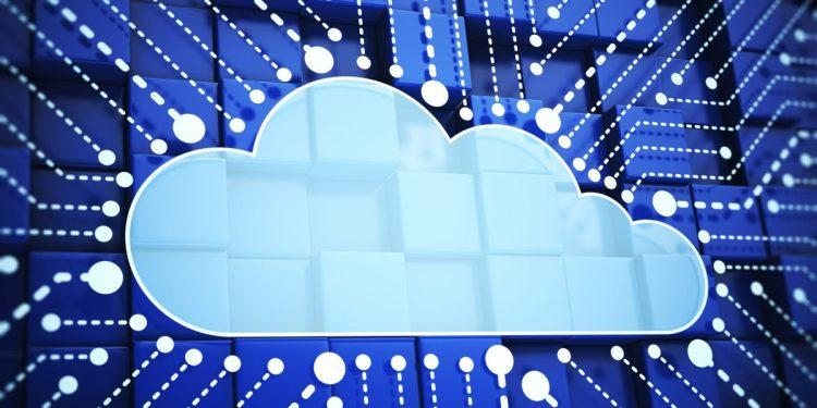 Cloud computing. IT leaders. Cloud architecture set against digital backdrop