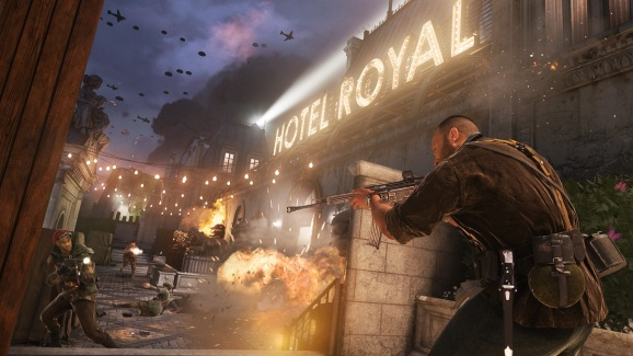 Fighting in the Hotel Royal in Call of Duty: Vanguard multiplayer.
