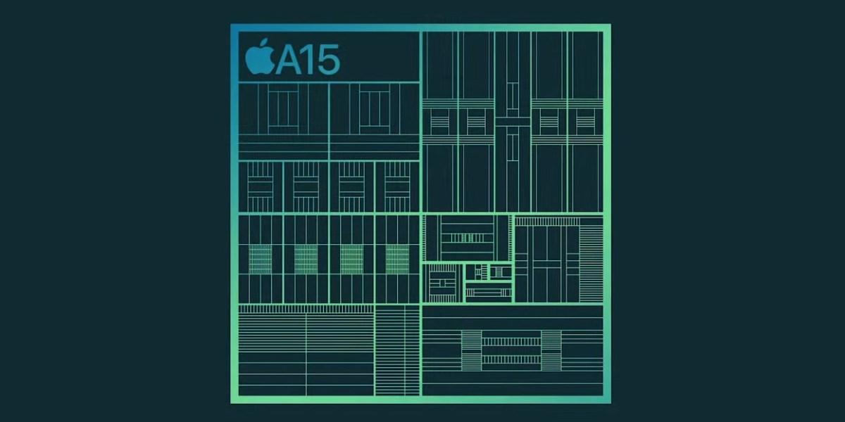 Apple's new A15 Bionic processor.