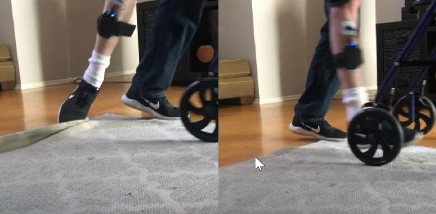 Fighting foot drop.