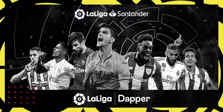 LaLiga has teamed up with Dapper Labs for NFT soccer collectibles.