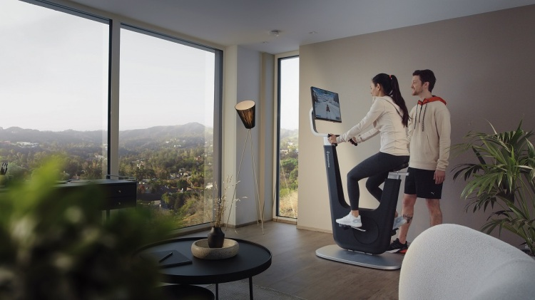 Playpulse One is an exercise bike with motivational games.