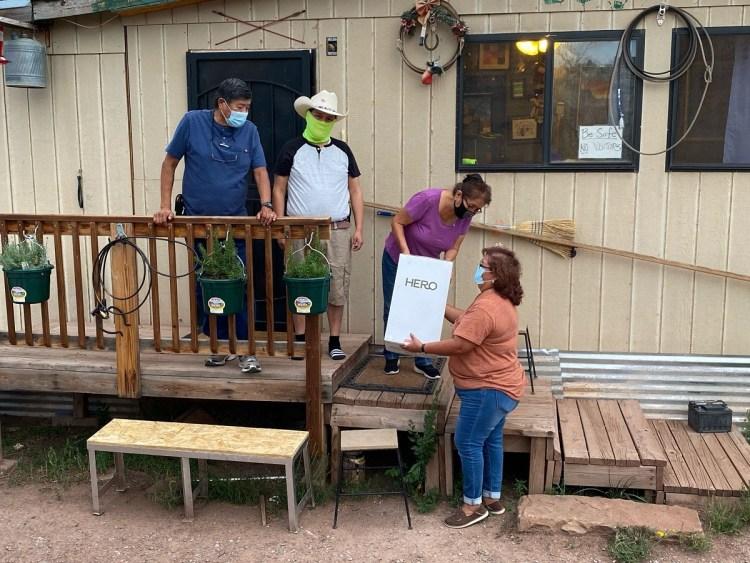 Protect Native Elders hands out Hero devices to Navajo elders.