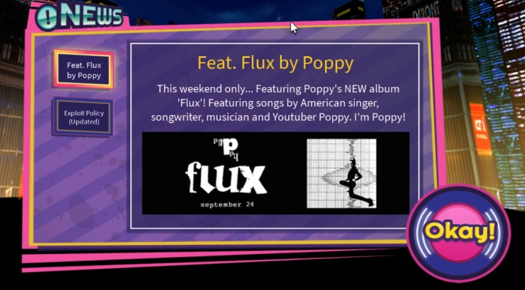 Roblox has new Listening Parties featuring Poppy.