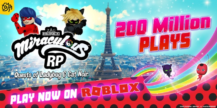Miraculous Ladybug RP has hit 200 million plays.