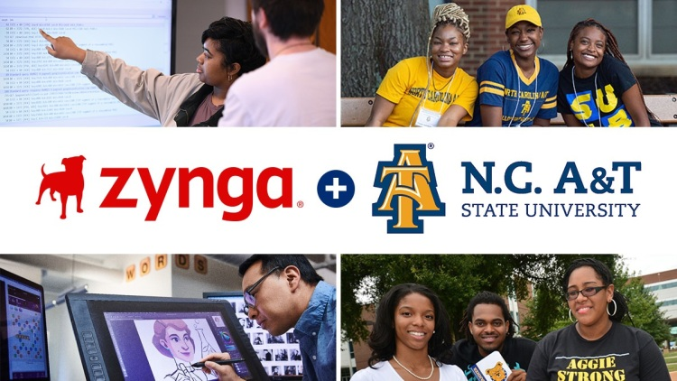 Zynga is funding scholarships at North Carolina State AT&T University.