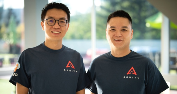 Akuity_founders: CEO Hong Wang and CTO Jesse Suen