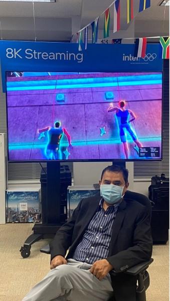 "Intel's Ravindra ""Ravi"" Velhal and 8K Internet livestream Global Content Technology Strategist and 8K Lead at Intel."