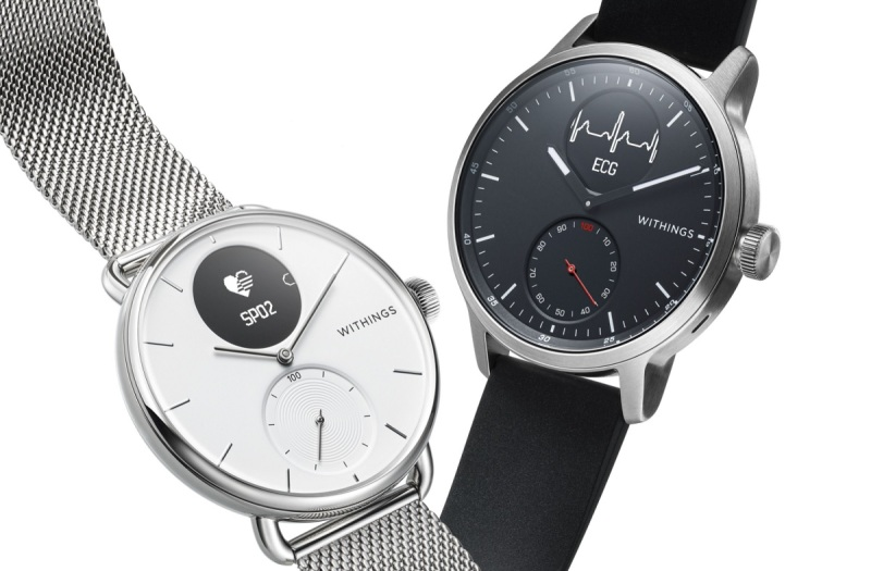 Withings's medical smart watch has a traditional look.