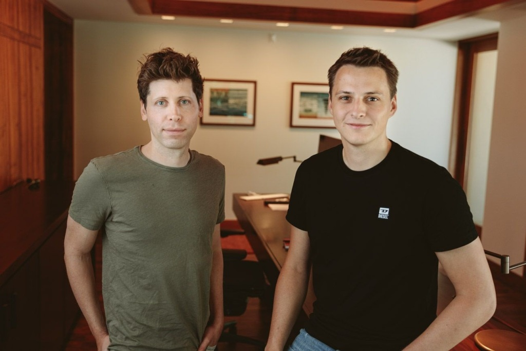 Worldcoin founders Sam Altman and